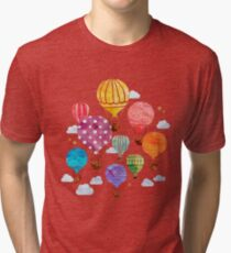 Hot Air Balloon Tri-blend T-Shirt