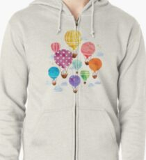 Hot Air Balloon Zipped Hoodie