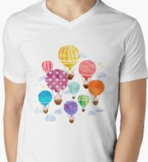 Hot Air Balloon Men's V-Neck T-Shirt
