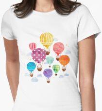 Hot Air Balloon Women's Fitted T-Shirt