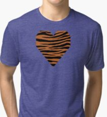 0599 Ruddy Brown Tiger Tri-blend T-Shirt