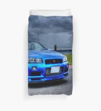 Nissan Skyline in HDR Duvet Cover