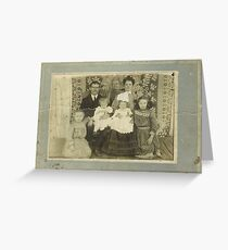 """""""Family Retro""""... prints and products Greeting Card"""