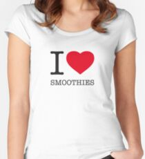 I ♥ SMOOTHIES Women's Fitted Scoop T-Shirt