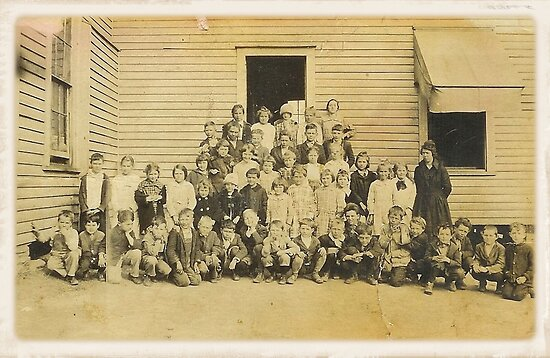 """""""THROWBACK: A 1917 One Room Schoolhouse""""... prints and products by © Bob Hall"""