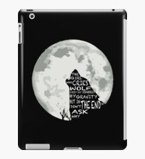 The girl who cried wolf iPad Case/Skin