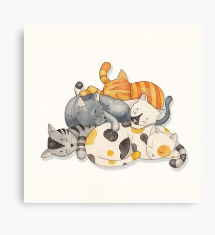 Cat Nap (Siesta Time) Canvas Print