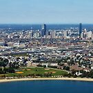 Aerial View of Boston by Bine