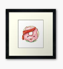 Dolly the Doughnut - The Pastry Platoon Framed Print