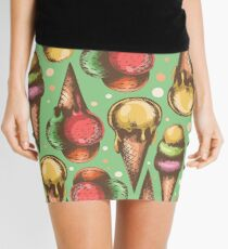 pattern with ice cream Mini Skirt