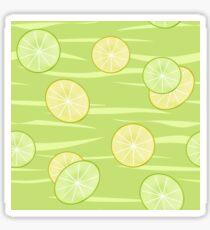 Colorful illustration . The Lemon & Lime.  Sticker