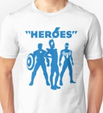 heroes: bowie and his super friends Unisex T-Shirt