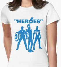 heroes: bowie and his super friends Womens Fitted T-Shirt