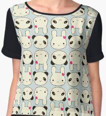 Bunnies and Pandas Chiffon Top