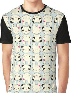 Bunnies and Pandas Graphic T-Shirt