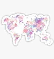 Watercolor Earth Sticker