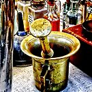 Brass Mortar and Pestle With Handles by Susan Savad