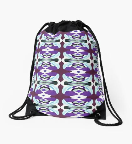Patterned Body Paint Collection Passion For Purple Drawstring Bag