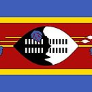 Swaziland Flag Stickers by Mark Podger