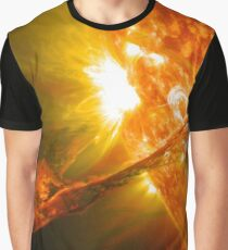 The Sun, Solar Prominince detail, solar flare, space Graphic T-Shirt
