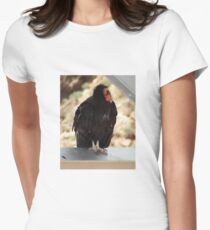 California Condor in the Wild Womens Fitted T-Shirt