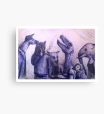 Anthro group Canvas Print