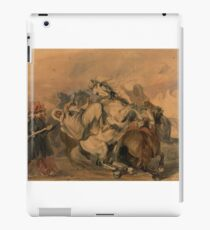 "Piotr Michałowski, ""An Encounter of the French Infantry with Arab Cavalry"",  iPad Case/Skin"