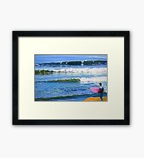 Surfing Picture San Diego California by Riccoboni Framed Print