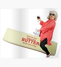 Paula deen riding butter Poster
