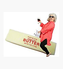 Paula deen riding butter Photographic Print