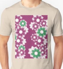 Polka Dot and Flowers Decoration Unisex T-Shirt