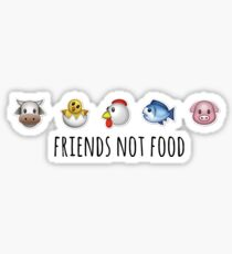 Friends, Not Food! Sticker