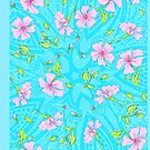Floral 44b Aqua and Teal by Edward Huse