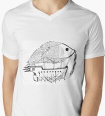 Fish & Ships Men's V-Neck T-Shirt