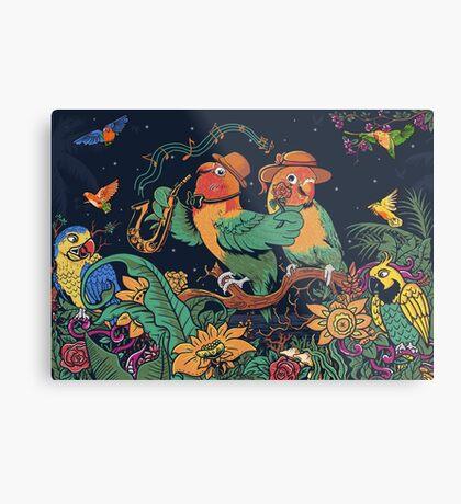 loving bird and friend Metal Print