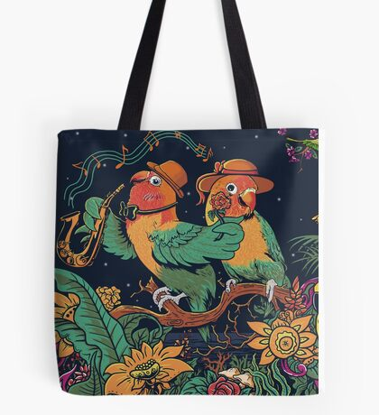 loving bird and friend Tote Bag