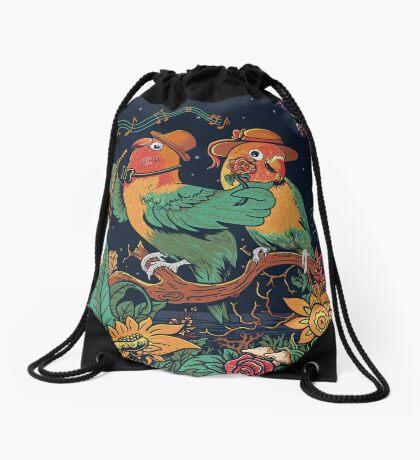 loving bird and friend Drawstring Bag
