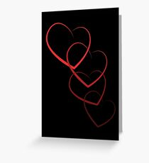 Interlinked Hearts Greeting Card