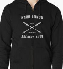 ANOR LONDO - ARCHERY CLUB Zipped Hoodie