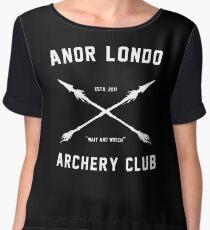 ANOR LONDO - ARCHERY CLUB Chiffon Top