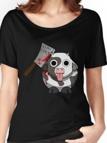 Cow Chop Bloody Knife Women's Relaxed Fit T-Shirt