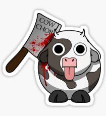 Cow Chop Bloody Knife Sticker