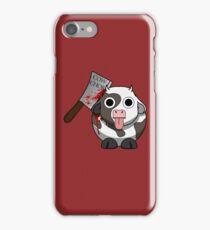 Cow Chop Bloody Knife BG iPhone Case/Skin