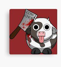 Cow Chop Bloody Knife BG Canvas Print