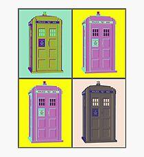 TIMEY WIMEY WARHOL TARDIS 1 Photographic Print