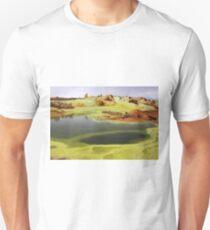 Green Lakes At Dallol Crater T-Shirt