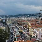 Promenade des Anglais and Cours Saleya from Above - Nice, France, French Riviera by Georgia Mizuleva