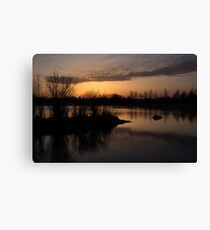 Sundown with Bare Branches Canvas Print