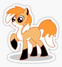 Orange MLP fox Sticker