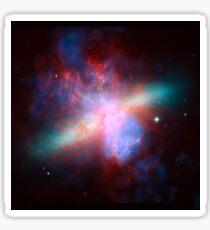 Messier 82 Galaxy Astronomy Image Sticker